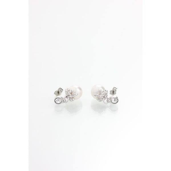 Náušnice s krystaly Swarovski® Yasmine Pearly