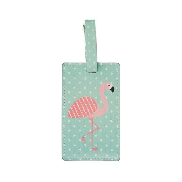 Etichetă geamantan Sass & Belle Flamingo
