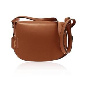 Hnědá kožená kabelka Maison Bag Dallas