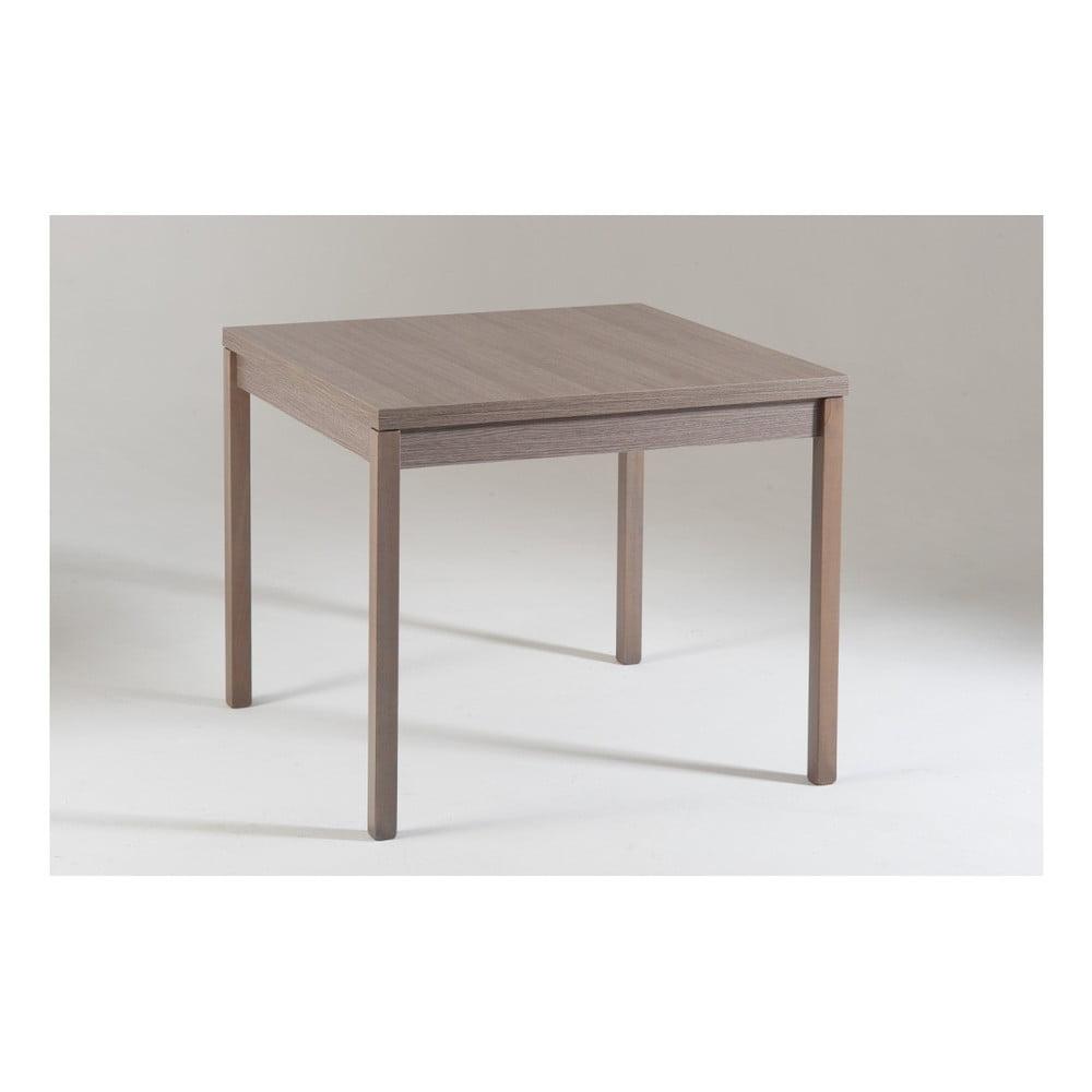 Šedý dřevěný rozkládací jídelní stůl Castagnetti Top, 90 cm