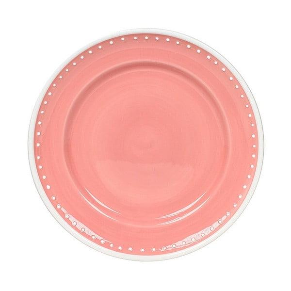 Keramický talíř Marikere Pink, 21 cm