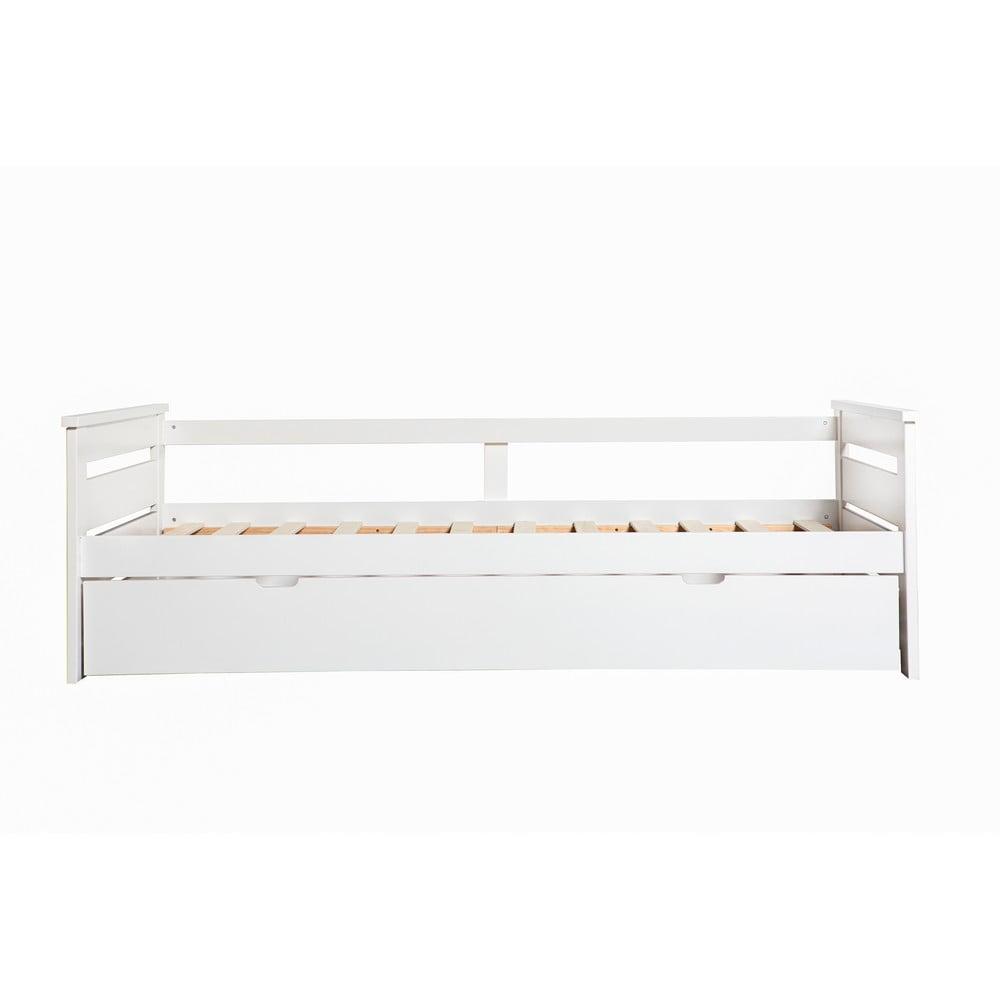 Bílá dětská postel s výsuvným lůžkem Marckeric Perle,90x190cm