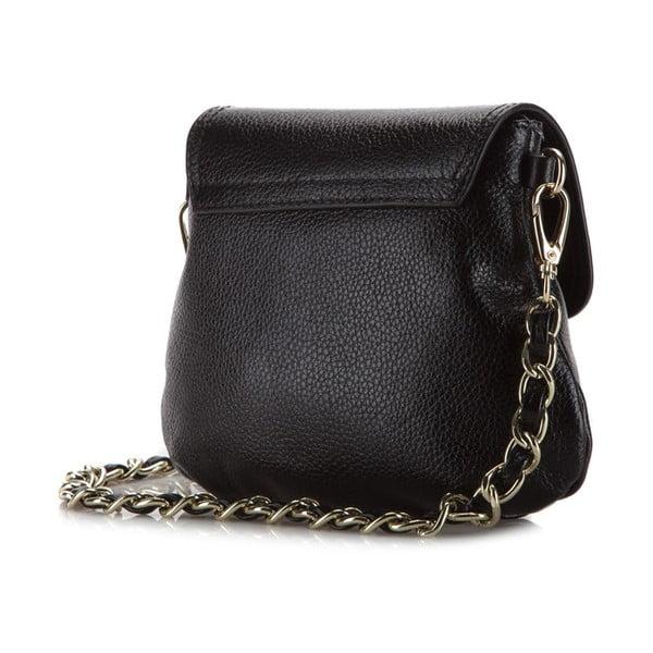 Kožená kabelka Elegance Night Black