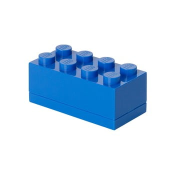 Cutie depozitare LEGO® Mini Box Blue Lungo, albastru imagine