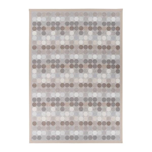 Béžový vzorovaný oboustranný koberec Narma Pallika, 140x200cm