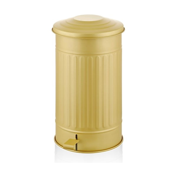 Kosz na śmieci w matowym złotym kolorze The Mia