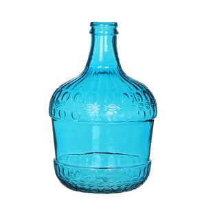 Modrá skleněná váza Mica Diego, 40x27cm