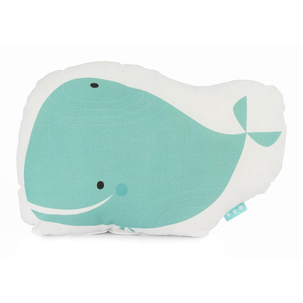 Dětský bavlněný polštářek Baleno Whale Ride, 40 x 30 cm