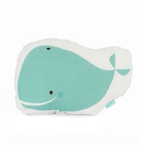 Bavlněný polštářek Baleno Whale Ride, 40x30cm