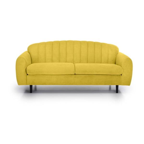 Žlutá dvoumístná pohovka Softnord Cadillo
