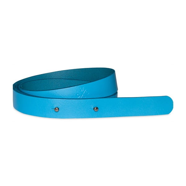 Modrý dámský kožený pásek Woox Bini Veneta, délka 92 cm