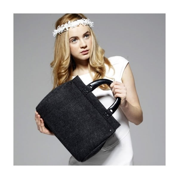 Plstěná vyšívaná kufříková kabelka do ruky Kočky Folk