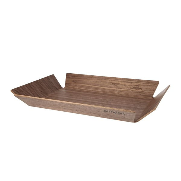 Dřevěný tác Trayo 35x50 cm, hnědý