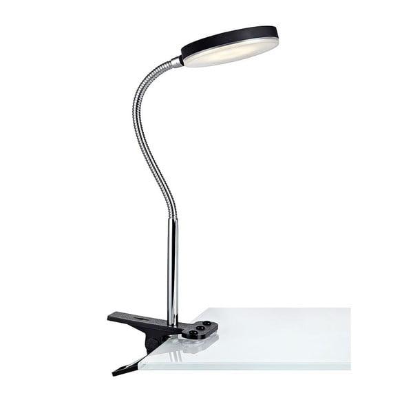 Čierna stolová LED lampa so štipcom Markslöjd Flex