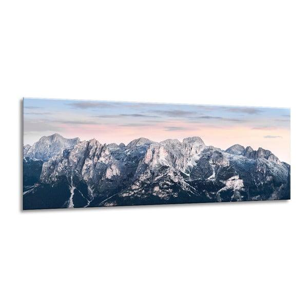 Obraz Styler Glass Views Alpine, 50 x 125 cm