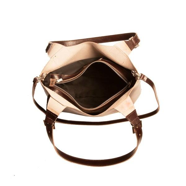 Tmavě hnědá kabelka z pravé kůže Andrea Cardone Stefano