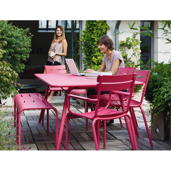 Sada 2 jasně zelených židlí s područkami Fermob Luxembourg