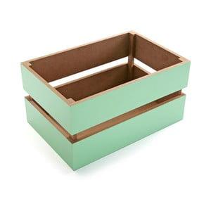 Zelený úložný box Versa,30cm