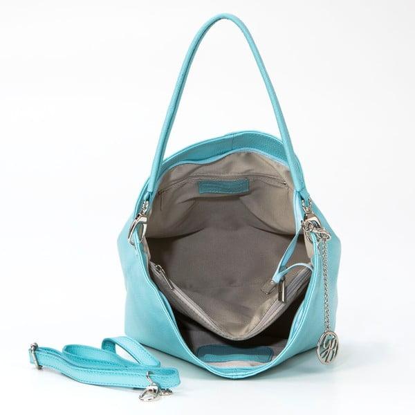 Kožená kabelka Marco, azurová