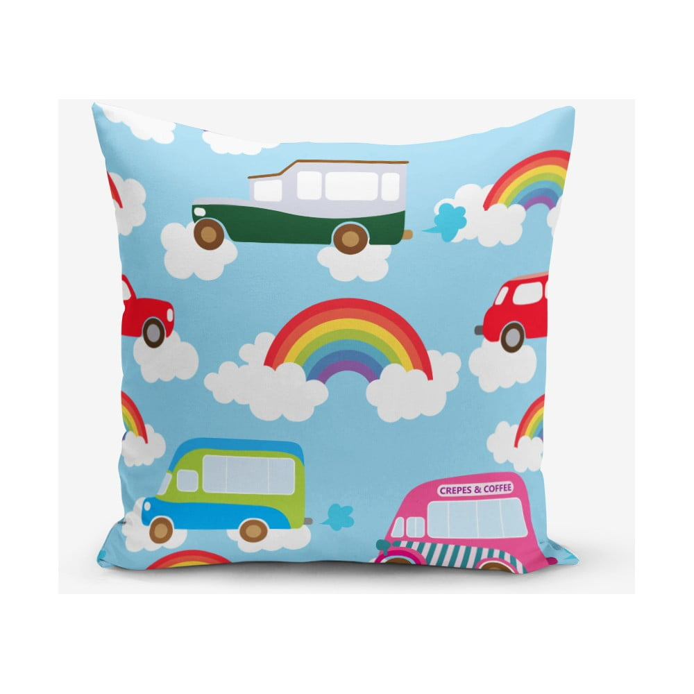 Povlak na polštář s příměsí bavlny Minimalist Cushion Covers Rainbow, 45 x 45 cm