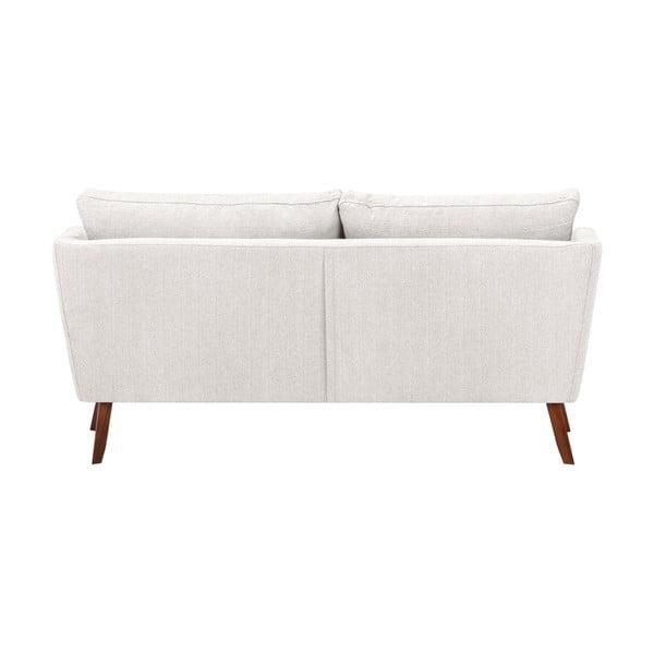 Canapea cu 3 locuri Mazzini Sofas Elena, cu șezlong pe partea stângă, crem alb