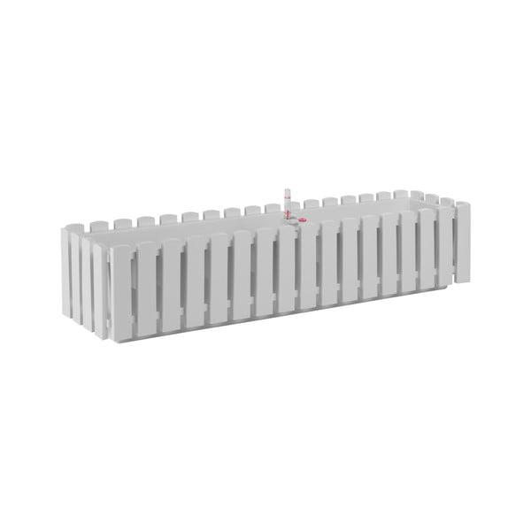 Jardinieră cu auto-irigare Gardenico Fency Smart System, lungime 75 cm, alb