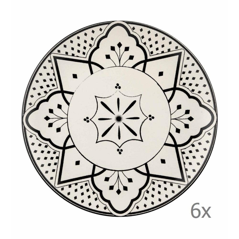 Sada 6 porcelánových dezertních talířů Mia Maroc Pasta, ⌀ 21 cm