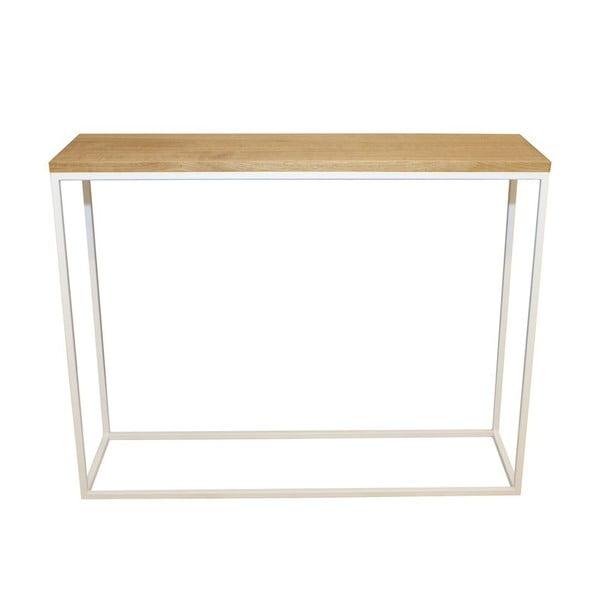 Konzolový stolek Skinny Oak White