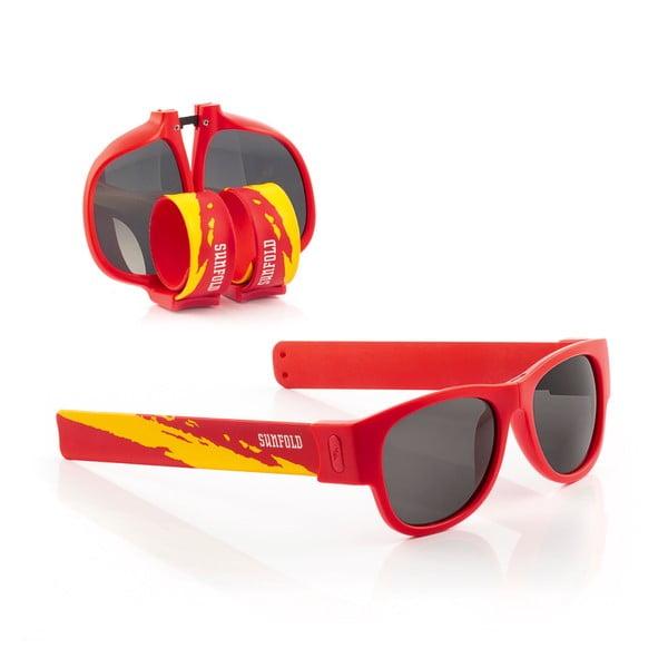 Červené sluneční srolovatelné brýle InnovaGoods Sunfold Mondial Spain