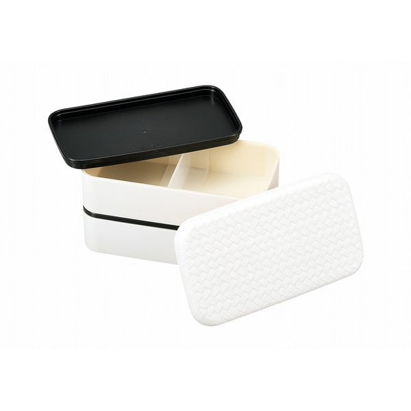 Bílý svačinový box Joli Bento B&W,750ml