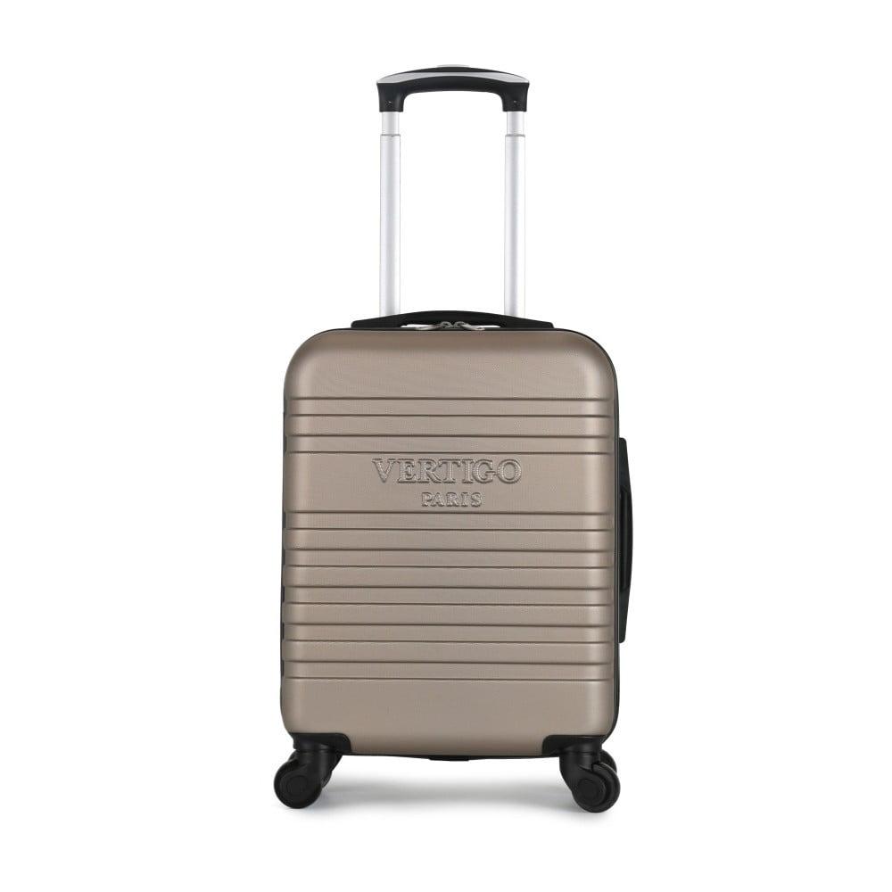 Hnědobéžový cestovní kufr na kolečkách VERTIGO Valises Cabine Cadenas Muela