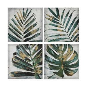 Sada 4 obrazů Tropicho Palm