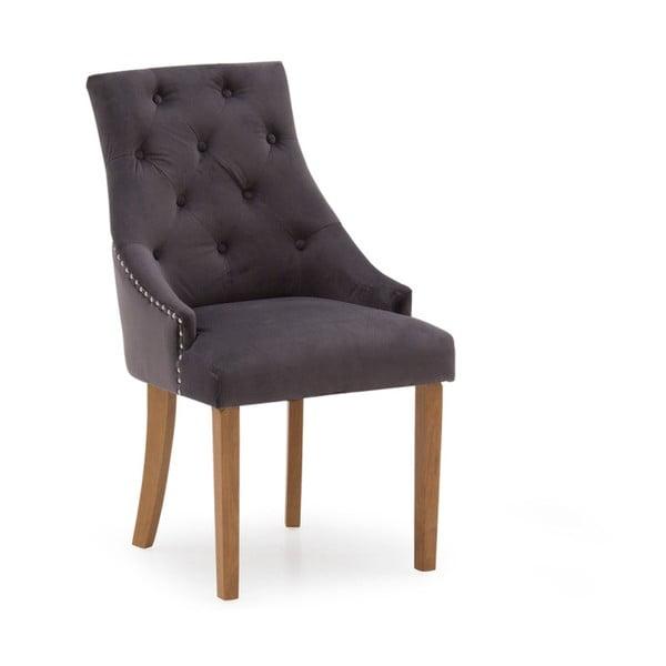 Sada 2 tmavě šedých jídelních židlí VIDA Living Hobbs