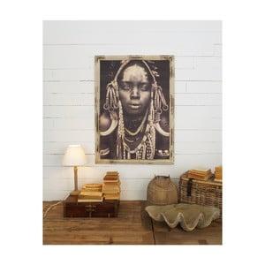 Nástěnný obraz s rámem z mangového dřeva Orchidea Milano, 81 x 112 cm