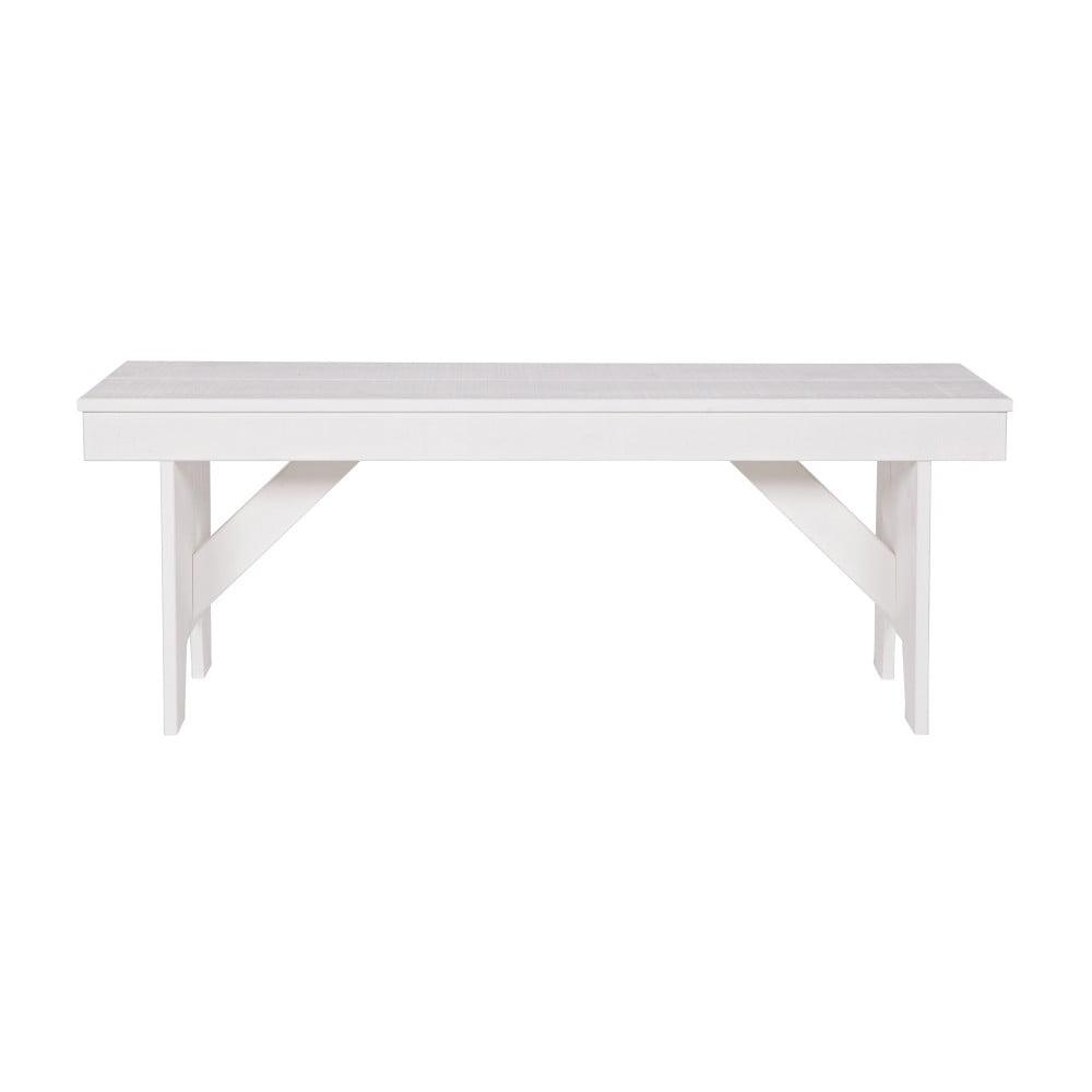 Bílá lavice z borovicového dřeva De Eekhoorn Loet