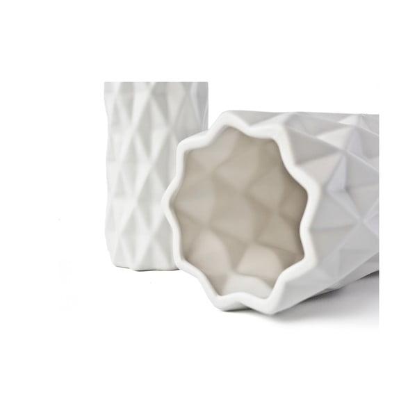Bílá váza Hawke&Thorn, výška 19cm