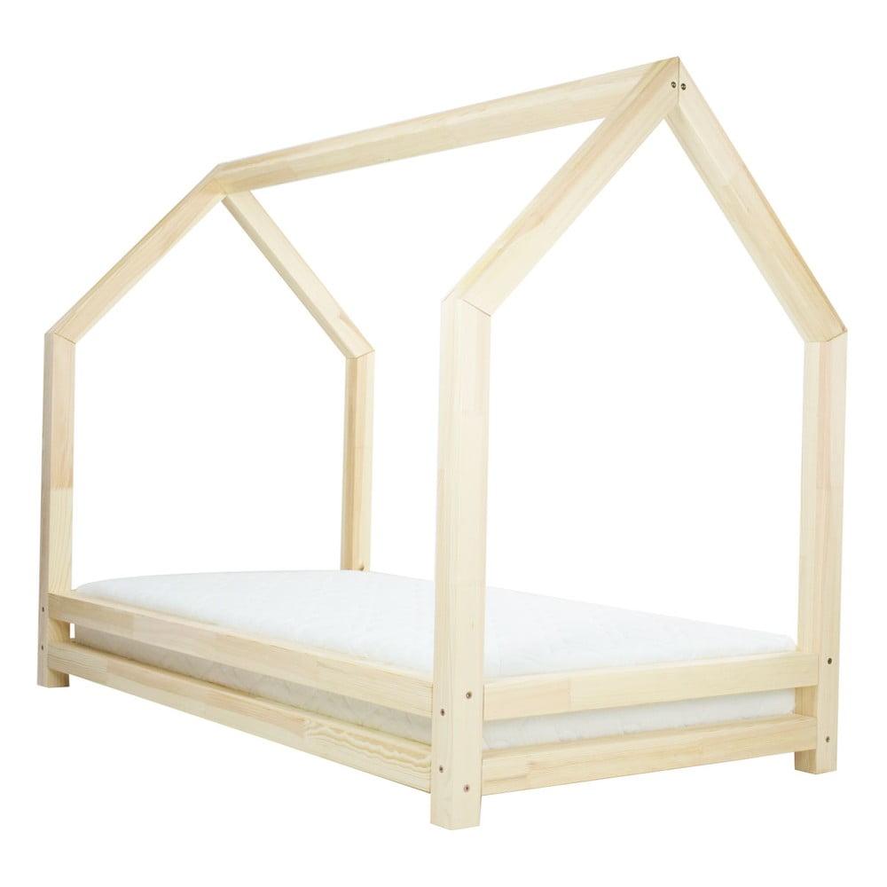 Přírodní jednolůžková postel z borovicového dřeva Benlemi Funny, 80 x 200 cm