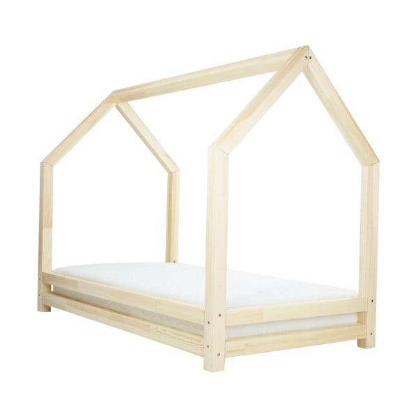 Łóżko dziecięce z naturalnego drewna świerkowego Benlemi Funny, 90x200 cm