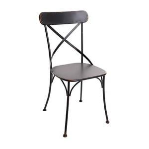 Černá kovová židle InArt Antique