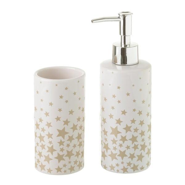 Zestaw ceramicznego kubka i dozownika do mydła Unimasa Star