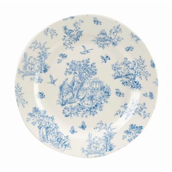 Talíř Churchill China Toile Blue de Jardin, 26 cm