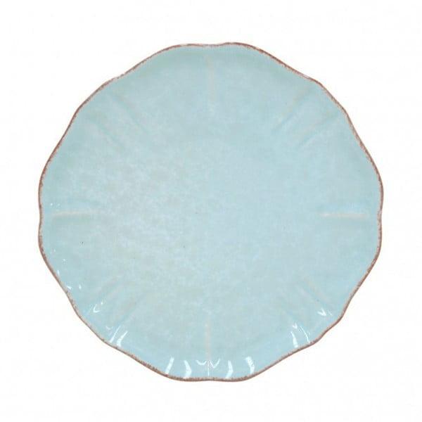 Tyrkysový dezertní talíř z kameniny Casafina Impressions, ⌀17cm