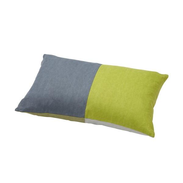 Polštář s kachním peřím Domino Grey/Green