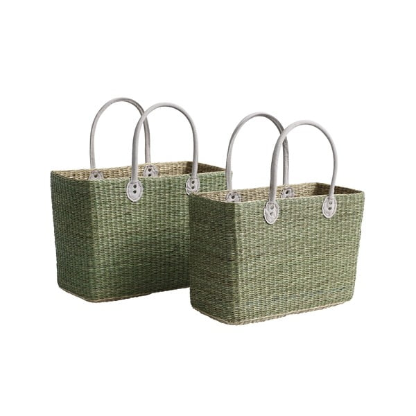Sada 2 tašek/úložných košíků Seagrass