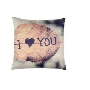 Růžovo-šedý polštář Walra Jill, 45 x 45 cm