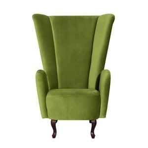 Zelené  křeslo Max Winzer Anastasia