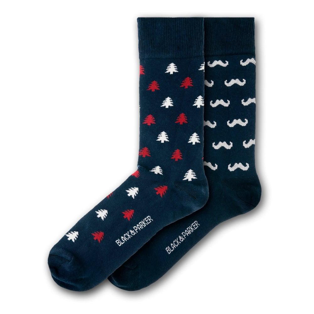 Sada 2 párů unisex ponožek Black&Parker London Forbury Gardens, velikost 37 - 43