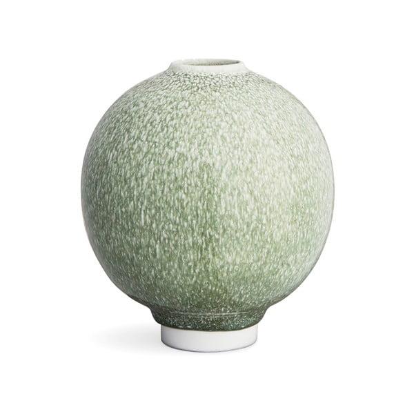 Zelená porcelánová váza Kähler Design Unico, výška 17 cm