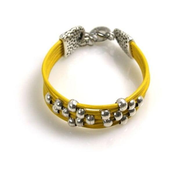 Náramek Pearls, žlutý