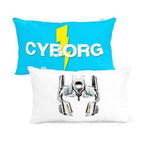 Oboustranný povlak na polštář Cyborg, 50x30 cm
